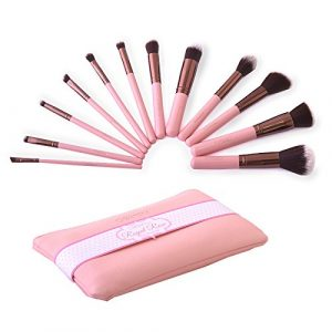 (6 Pack) BEAUTY CREATIONS Royal Rose/Pink 12 pc Brush Set