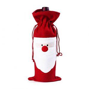 BESTOYARD Emballage de Cadeau de Sac de Bouteille de vin de Noël de Santa Santa