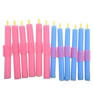 CUHAWUDBA 12 x Rouleau d'éponge en couleur aléatoire Bleu ou Rose