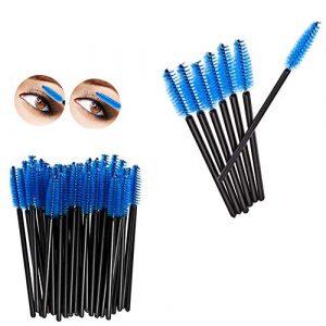 Demarkt 50pcs brosse à cils jetables Brosse à cils cosmétique outil Extensions Applicateur varitas Mascara Kit de maquillage