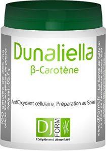 Dunaliella Fort – Bêta-carotène naturel – 300 gélules – Antioxydant puissant – Préparation au Soleil – Prolonge le Bronzage