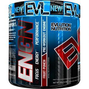Evlution Nutrition ENGN | Supplément Pre Workout | Emballage de 30 Doses | Goût Punch Aux Fruits