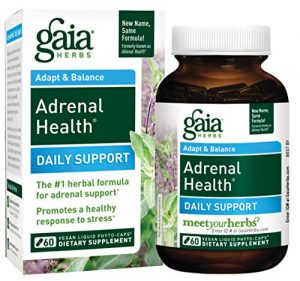 Gaia Herbs, Adrenal Health with Holy Basil and Rhodiola, 60 Liquid-Filled Capsules