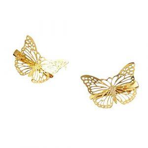 Hosaire 2Pcs Pince à Cheveux en Papillon de Mode Femme Fille Fantaisie Épingle à cheveux Accessoire de Cheveux bijoux