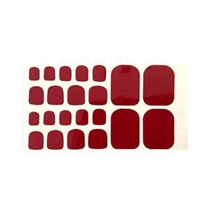 Hosaire Les Ongles Nail Sticker Autocollants à Ongles Solid Couleur Toenails Sticker Tattoo Stickers pour Ongles Nail Outils Artistiques Bricolage Décoration