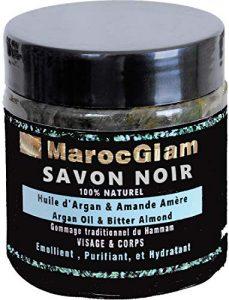 SAVON NOIR 100% naturel huile d'ARGAN et amandes amères – SPA visage et corps pour gommage et nettoyage SAVON NOIR HAMMAM TRADITIONNEL ingrédients 100% NATURELS, by MAROC GLAM