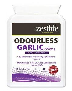 Zestlife ail inodore – 1000mg 90 gélules a été trouvé pour avoir antibactérien | antiviral | Activité antifongique | avantages . Cru pour aider à maintenir une bonne santé cardiaque , la circulation, le taux de cholestérol et le système immunitaire