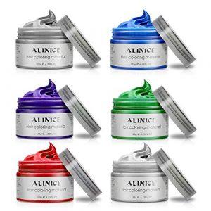 ALINICE 6 Couleurs Unisexe Multi-Couleur Temporaire Modélisation Mode DIY Couleur des Cheveux Cire Boue De Cheveux Crème Teinture