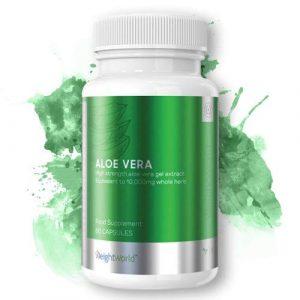 ALOE VERA – 60 Gélules 10000mg – Puissant Extrait 100% Pur – Qualité Premium – Probiotique – Antioxydant – Anti-Vieillissement de la Peau – Hydratant – Digestion – Végan – Sans Gluten – par WeighWorld
