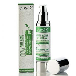 Anti acne creme. Acne gel crème avec acide salicylique. Acne treatment, anti boutons et anti points noirs. Combattez acné juvénile et acné adulte.