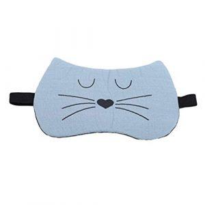Beafavor Masque pour les yeux chat de dessin animé Maison Lunettes de voyage Ombrage Masque pour les yeux Sleep Sleep Nap Masque pour les yeux (Vert)