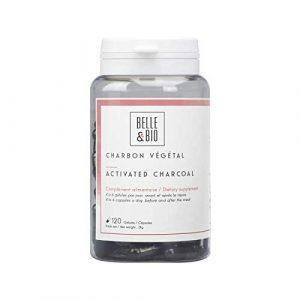 Belle&Bio – Charbon Végétal Activé – 120 gélules – 1200 mg – Digestion – Fabriqué en France
