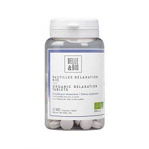 Belle&Bio – Pastilles Relaxation Bio – 100 pastilles – Bonne humeur – Certifié Bio par Ecocert – Fabriqué en France