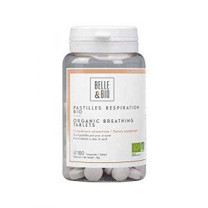 Belle&Bio – Pastilles Respiration Bio – 100 pastilles – Défenses Naturelles – Certifié Bio par Ecocert – Fabriqué en France