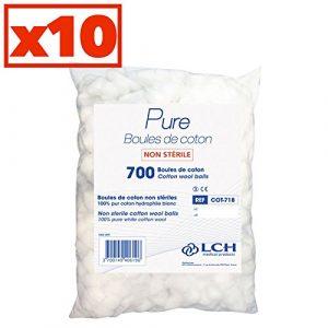 Boules De Coton 100% Coton Hydrophile Carton De 10 Sachets De 700 Boules – Cot-718-10 – By Antigua Health Care