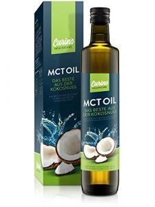 Carino 500ml MCT Oil 100% huile de noix de coco en bouteille de verre goût neutre C8 C10
