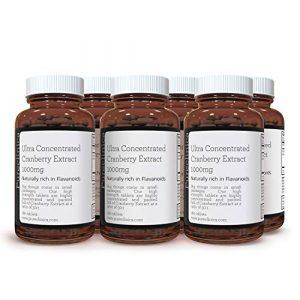 EXTRAIT DE CANNEBERGE ULTRA CONCENTRÉ 1000 mg x 1080 COMPRIMÉS (6 bouteilles de 180 comprimés – 3 ANS DE STOCK !) SKU: CRAN3x6