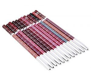hosaire 12x Lapices delineador pour Hermosa Femmes Imperméable pour lèvres yeux longue durée Maquillage Matte Lip Liner Crayon Cosmétique