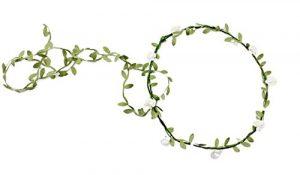 Hosaire Couronnes de Fleurs de Bandeau Serre-Tête Vigne de Fleurs de Simulation Couronne de Mariée Accessoires Cheveux Decor pour Scènes Photo Mariage