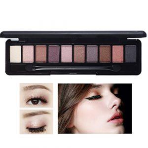 hosaire Ombre à paupières Mate cosmétique crème de maquillage palette maquillage fumé Set 10Color
