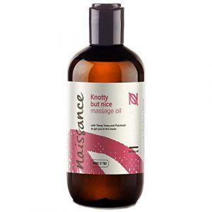 Naissance Huile de Massage Sensuelle et Aphrodisiaque « Knotty but Nice » – 250ml – Mélange 100% naturel d'huile de Pépins de Raisin et d'huiles essentielles