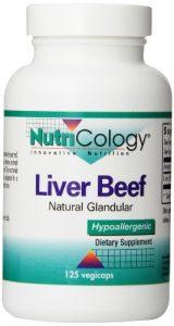 Nutricology Liver Organic Glandular 125 Vegetarian Capsules