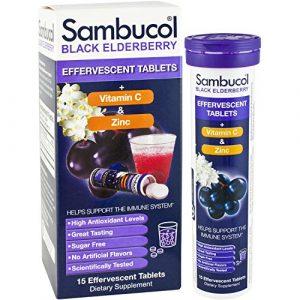Sambucol Original Plus Vitamin C And Zinc Effervescent Tabs 15 Count