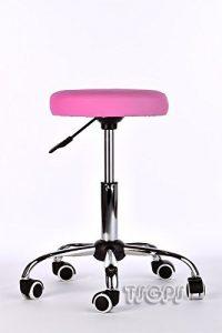 Tabouret a roulettes selle ergonomique table massage rose