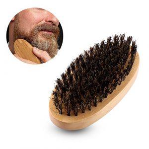 Barbe Brosse, Hommes Naturel Faux Sanglier Poignée En Bois Militaire Poche Moustache Barbe Toilettage Brosse