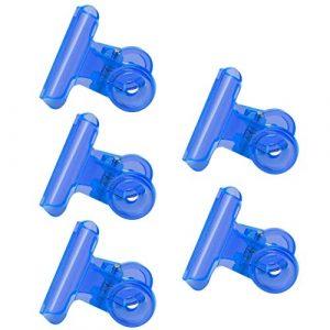 Buimin Extension du bac à papier C Pince en forme de courbe Pince fixe La fonction multi de C Curve Pinching agrafe des outils acryliques de clou Ongles Pour Gel Ongles avec (Bleu)