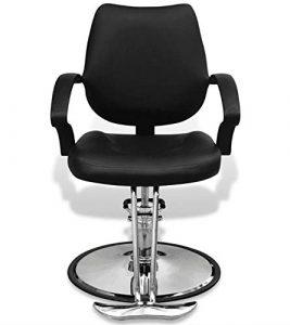 chaise de barbier Fauteuil de coiffeur professionnel simili cuir noir