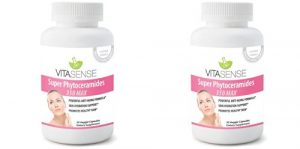DOUBLE PACK (Pack of 2) VitaSense Super Phytoceramides 350mg MAX – Skin Restoring, Anti-Ageing, Skin, Hair & Nails Ceramides with Vitamin Complex – 30 Capsules