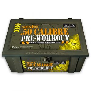 Grenade 50 Calibre Lemon Raid Pre Workout Energy Drink 580g- Pack of 50 Servings