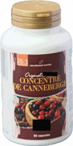 Hanoju – Concentré de Canneberge – Cranberries – 25/1 – 400 mg – 90 gélules