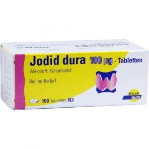 jodid 100Dura, 100pcs iodure [Li-Ion 100µg]