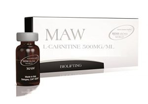 MESOTHERAPIE- MAW | L-CARNITINE 500- Injections ou Microneedling DERMAROLLER ou DERMAPEN.Anti-Cellulite, réducteur lipolytique et Shaper Figure 5X10 ml
