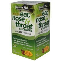 Nature's Plus – Adult's Ear, Nose & Throat Lozenges 60 by Nature's Plus (English Manual)