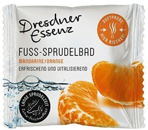 Pied de bain bouillonnant Mandarine/Orange env. 30g, soin Bain de pieds Pieds avec Menthol rafraîchissez-vous & Relaxant