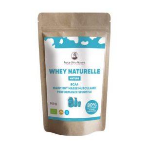 Protéine de whey concentrée certifiée Biologique, sans OGM, saveur Nature – 1kg