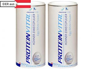 PROTEINVITAL ProtéineDeBlanc |D'OeufPureEnPoudre |100%Naturelle |1000g Elevage Au Sol