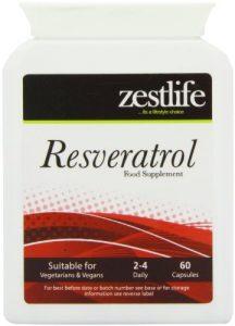 RESVERATROL Zestlife – 60 Capsules resvératrol a été trouvé pour être plus puissant et plus efficace que les vitamines C et E. Comme un antioxydant , le resvératrol contribue à abaisser le mauvais cholestérol . Et comme un antioxydant , le resvératrol protège les cellules contre les dommages oxydatifs causés par les radicaux libres