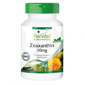 Zéaxanthine 10mg – 60 gélules – Protège la rétine comme un filtre lors de haute luminosité