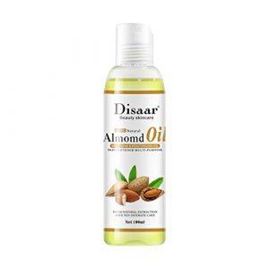 Buimin Soin hydratant pour la peau hydratant pressé à froid de l'huile d'amande naturelle pure Huile émolliente pour le corps aux fruits adoucir la peau et le visage 100ml (A)