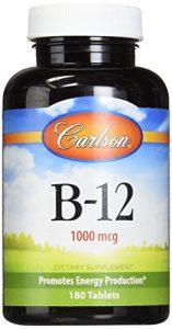 Carlson – B-12-SL Vitamine B-12 1000 mcg – 180 Comprimés