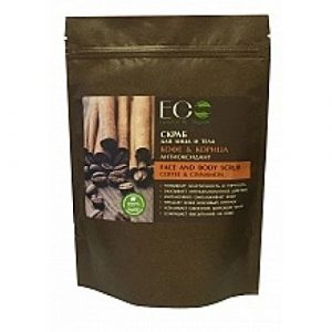 EO Laboratorie Natural Face Body Dry Scrub Coffee & Cinnamon Antioxidant 40g