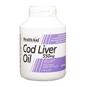 HEALTHAID Cod Liver Oil Complément Nutritionnel 180 Capsules