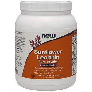 Lécithine de tournesol, poudre pure, 1 lb (454 g) – Now Foods