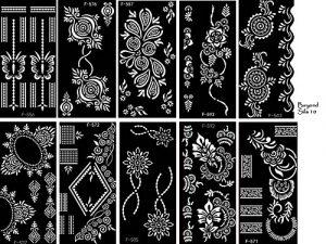 – Lot de 10feuilles de pochoirs Sila à usage unique pour tatouages sur le corps. Convient également aux tatouages pailletés et à l'aérographe