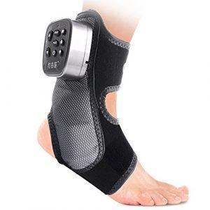 LYXPUZI Coussin de massage shiatsu Cheville masseur cheville articulation de la cheville cou malaxage kinésithérapie tendheron d'Achille vibration du pied chaleur pack airbag massage + vibration multi