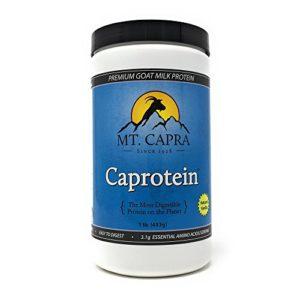 Mt. Capra Products – Caprotein Premium Goat-Milk Protein Vanilla Flavor – 1 lb.